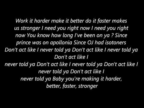 Kanye West Stronger [Lyrics]