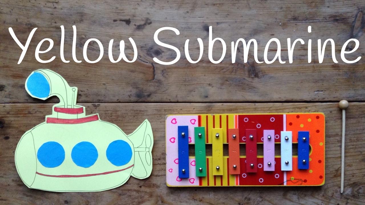 Cómo tocar Yellow Submarine | Canciones con xilófono para niños