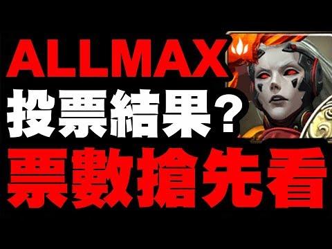 最多人想選得ALL MAX