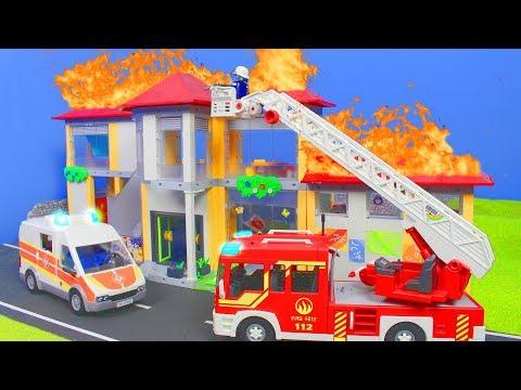 PLAYMOBIL Film deutsch: Feuerwehrmann in der Schule & Kita   Kinderfilm / Kinderserie