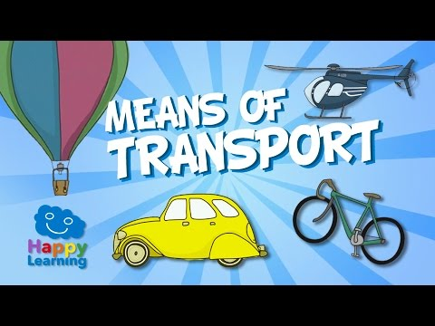 Aprende inglés. Los Medios de Transporte en Inglés | Videos Educativos para Niños