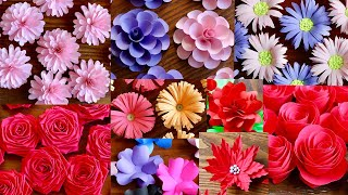 10 Simple And Beautiful Paper Flowers - Paper Craft - DIY Flowers - Home Decor