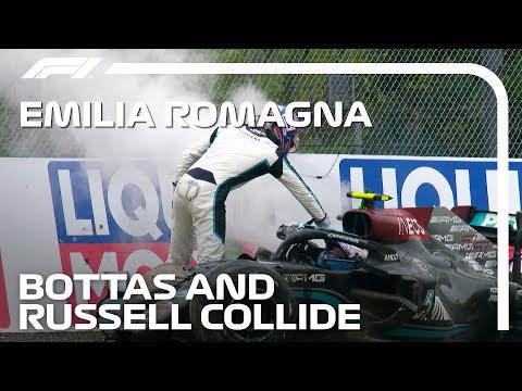 ラッセルがボッタスに突っ込みクラッシュリタイア F1第2戦エミリア・ロマーニャGP(イモラ)ハプニング動画