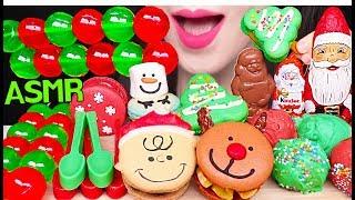 ASMR CHRISTMAS JELLO JELLY, CHOCOLATE, CAKE POPS, MACARON 크리스마스 젤리, 케이크팝, 초콜릿 먹방 EATING SOUNDS