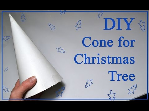 How to make a cone DIY Christmas Tree tutorial decorations paper foam