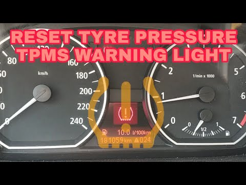 How to reset tire pressure sensors in BMW with iDrive