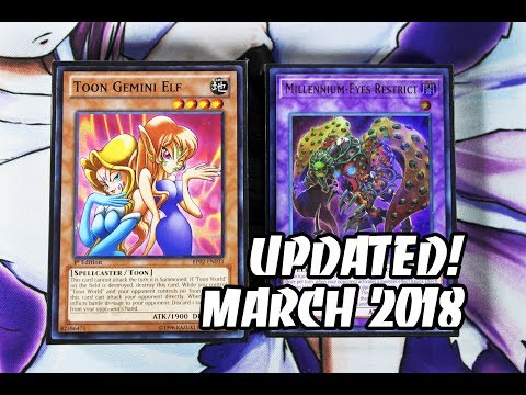 Yu-Gi-Oh! *UPDATED* Toon Deck Profile! MARCH 2018! FAST BOARD FILLS TOON CONTROL DECK! REUPLOAD