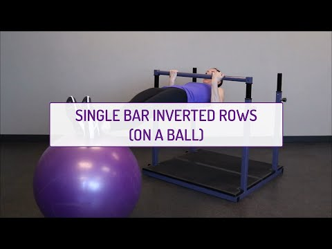 Single Bar Inverted Rows (on a Ball)