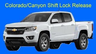 Colorado/Canyon Shift Lock Release