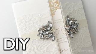 STUNNING Gatefold Wedding Invitation With Gold Foiling | Luxurious Wedding Invitation DIY