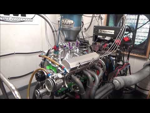 SBC 647HP 427 ENGINE DYNO RUN FOR CHARLES BAKER BY WHITE