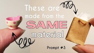 Paper Bag Miniatures - Dollhouse Minis Prompt #3