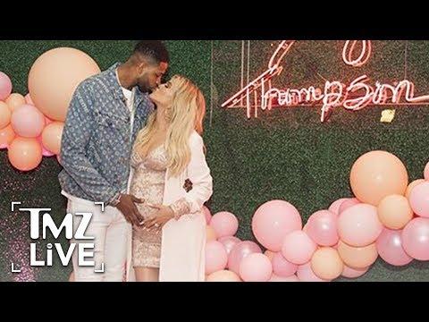 Khloe Kardashian Gives Birth With Tristan Thompson By Her Side | TMZ Live