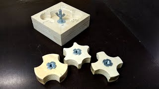 DIY Knobs - Making 3 In 1 Star Knob Jig   Free Plans + 3D Model