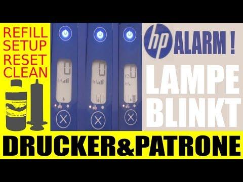 HP DRUCKER !!! Farbpatrone fehlt, Lampe blinkt.... Kann ich mit schwarz weiter drucken ?