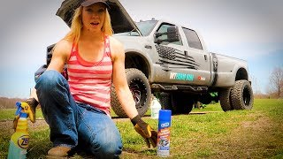 She Squeals Like a PIG! - Ford F-350 Dually 7.3 Leaking Oil?? (Video 1)