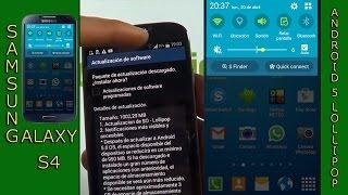 Actualizar el Samsung galaxy S4 a android 5.0.1 Lollipop