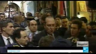 Gambar cover Fou rire de Tony Blair après le coup de sang de Jacques Chirac à Jérusalem