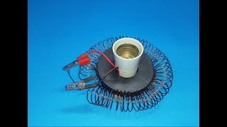Free Energy Generator Magnet Coil 230v  used light bulb New Technology New Idea Project