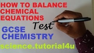 Balancing Chemical Equation. TEST And REVISION