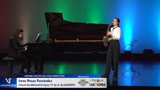 Irene Mesas Fernández plays Chant du Ménestrel opus 71 by Alexander GLAZUNOV