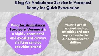 Critical Shifting from King Air Ambulance Service in Ranchi