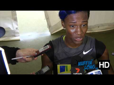 Kellie Wells post race interview, Diamond League Crystal Palace (HD)