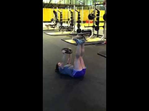 Toe touches with plate