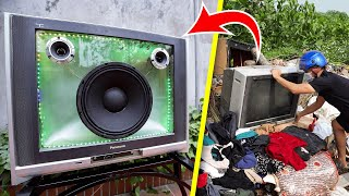 recycle-tv-from-landfill-into-bluetooth-speaker
