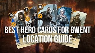 BEST HERO GWENT CARDS Locations Guide - The Witcher 3