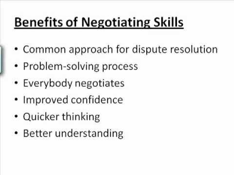 Negotiation Skills Training Course - YouTube