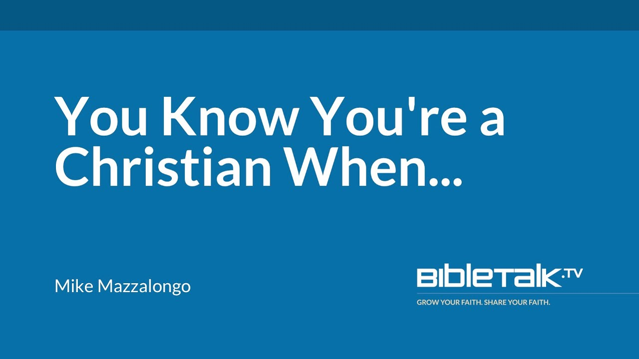 You Know You're a Christian When...
