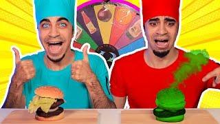 تحدي البرغر بعجلة الحظ الغامضة 👨🏻🍳🔥 Mystery Wheel Of Burger Challenge