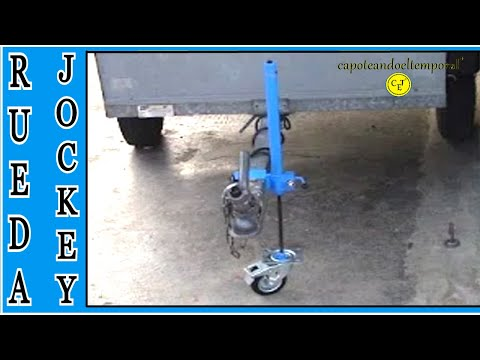 RUEDA JOCKEY O DE APOYO CASERA ( para remolques ) / JOCKEY WHEEL OR SUPPORT HOME (for trailers)