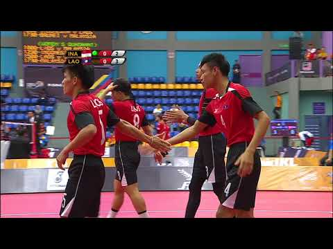 KL2017 29th SEA Games | Sepak Takraw - Men's Quadrant - INA 🇮🇩 Vs LAO 🇱🇦