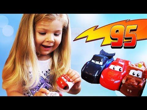 Disney Pixar Cars 3 Lightning McQueen Truck Toys Kids Playtime Surprises Kids Video