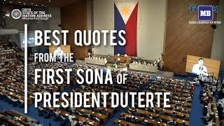 Best Quotes from the First Sona of President Duterte