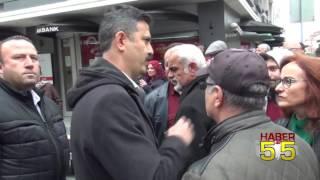 SAMSUN'DA 'HAYIR'CI GRUP POLİS MÜDAHALE EDİNCE DAĞINIK YÜRÜDÜ
