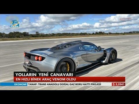 Dünyanın En Hızlı Otomobili Artık O: Venom GT (⏩ 435.31 km/h)