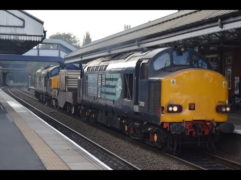 DRS 37612 & 37218 pass Scunthorpe with nuclear flasks 26th O…