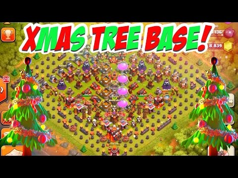 Video New X-MAS TREE BASE! Clash of Clans Christmas Tree Spawner!