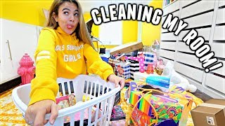 CLEANING MY ROOM & MAKEUP! (1st time in months) | Vlogmas Day 6