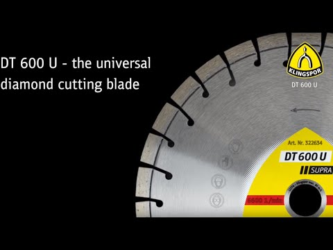 DT 600 U Supra - Diamond cutting blades for angle grinders for Angle grinder