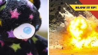 Explode a MASSIVE Teddy Bear to Get Over Your Ex