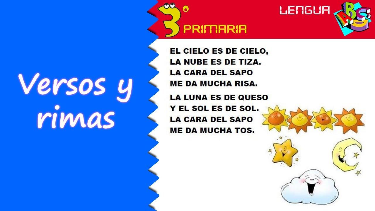 Lengua Castellana. 3º Primaria. Tema 2. El verso y la rima