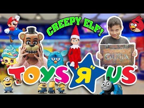CREEPY ELF KEEPS FOLLOWING US!!!  Toys