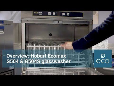 Overview: Hobart Ecomax G504 & G504S glasswasher