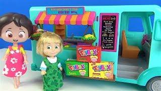 Niloya Maşanın dondurma arabasında Toybox sürpriz arıyor Maşa ile Niloya sıcak soğuk oyunu oyunuyor
