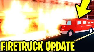 NEW FIRETRUCK UPDATE! JAILBREAK CITY IS ON FIRE!! [FULL GUIDE]   Roblox Jailbreak New Update