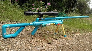 Powerful PVC TOYS Gun - How to make PVC TOY Gun Using  Glass Marble Bullet